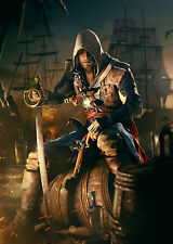 ASSASSIN'S CREED BLACK FLAG. UBISOFT. 1 FREE GRATUIT. ART PRINT POSTER A3.