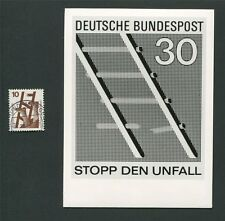 BUND FOTO-ESSAY 695 DAUERSERIE UNFALL 1971 PHOTO-ESSAY PROOF RARE!! e10
