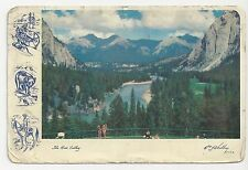 Postcard, The Bow Valley from Banff Springs Hotel, Canada - Posted 1958