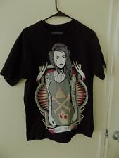 FATAL ABOVE THE REST SEXY PIN UP GIRL TATTOO SKULL PUNK SKATE MENS T-SHIRT M