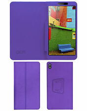 "ACM-EXECUTIVE LEATHER FLIP CASE for LENOVO PHAB 6.98"" TAB COVER STAND - PURPLE"