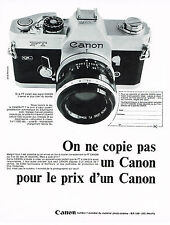 PUBLICITE  1969   CANON   appareil photo FT