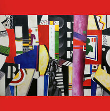 FERNAND LEGER Image THE CITY in Silk SCARF