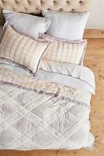 NEW ANTHROPOLOGIE Catarine Quilt Queen Light Grey Hothouse Bedding Coverlet NWT