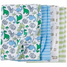 Gerber Flannel Receiving Blankets 4 Pack Boys NEW Baby Shower Gift CUTE