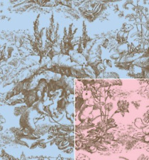 "Baby Toile Reversible Gift Wrap Roll 24"" X 15"