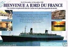 Publicité advertising 1990 (2 pages) Croisière sur le Paquebot France