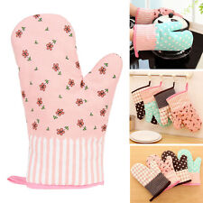 Kitchen Heat Resistant Cotton Glove Oven Pot Holder Baking BBQ Cooking Mitts New