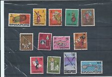 Singapore stamps. 1968 series used. Faults - see desc (Y129)