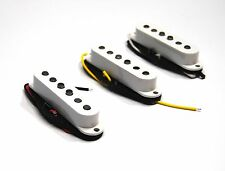 Set White Artec Alnico single coil pickup staggered pole Stratocaster guitar SSA