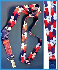 Disney Parks Americana Patriotic Mickey Mouse Icon Lanyard Pin Trading - NEW