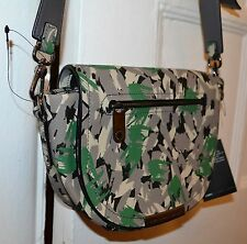 MARC BY MARC JACOBS GREEN DARK MOSS CROSSBODY FLAP NEW HANDBAG CAMOFLAGE
