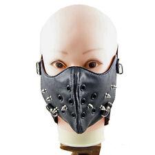 PU Mundschutz Gesichtsmaske Fashion und Pratisch mit Nieten Brandneu HOT