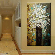 "Modern Abstract Canvas Art Wall Decor Oil Painting on canvas ""Flowers"" No Frame"