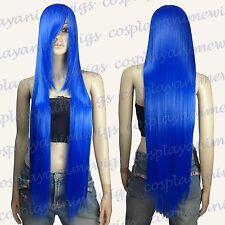 100cm Dark Blue Heat Styleable long Cosplay Wigs  85_512