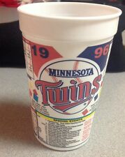 Minnesota Twins 1996 Schedule Cup MLB