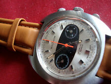 VINTAGE MEN'S CHRONOGRAPH WALTHAM VALJOUX7733 PANDA DIAL SWISS MADE IN 1960'S