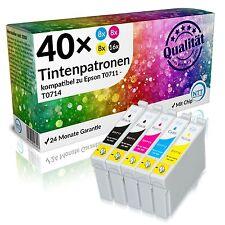 40 x Druckerpatronen für Epson Stylus DX5500 DX6000 DX6050 DX7000F DX7400 DX7450
