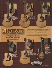 Gibson Hummingbird Super 200 L-1 Martin HD28V D18GE acoustic guitars 8 x 11 ad