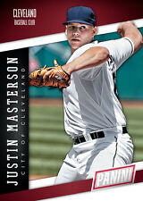 JUSTIN MASTERSON Indians Team Colors  Panini 2014 National Convention