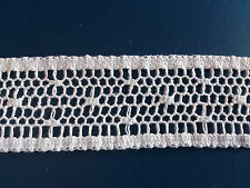 "Genuine 1"" Off White Cotton Leavers Lace Net Insertion Dress Fashion Skirt Trims"
