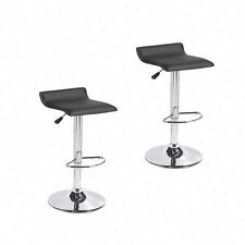 BN Set of 2 Black Swivel Seat Chrome Base Pub Bar Stools Dinning Kitchen Chair