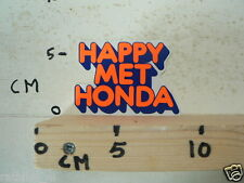 STICKER,DECAL HONDA HAPPY MET HONDA MOTORCYCLE ORANGE VINTAGE MOPED ?