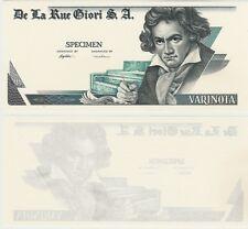 Proofnote Specimen De La Rue Giori S.A Beethoven