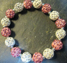 Breast Cancer Awareness *Bling*Crystal-Rhinestone-Pink/White/Silver-Bracelet