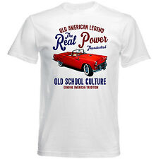 VINTAGE AMERICAN CAR FORD THUNDERBIRD - NEW COTTON T-SHIRT