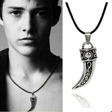 Men's Punk Stainless Steel Domineering Wolf Tooth Shape Pendant Necklace Jewelry