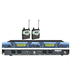2 USB 2 Channel Wireless In ear Monitor System Profession for Stage Performance