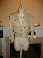SPECTACULAR NEW $1,695 WASHED LEATHER WITH MESH DETAIL JEAN PAUL GAULTIER JACKET