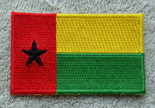 GUINEA-BISSAU FLAG PATCH Embroidered Badge Iron Sew 4.5cm x 6cm Guiné-Bissau NEW