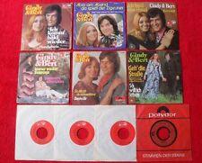 """10 Singles Single 7"""" Sammlung von CINDY & BERT - Vinyl Schallplatten"""