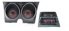 Dakota Digital 68 Chevy Camaro Analog Dash Console Gauges Carbon Red VHX-68C-CAC