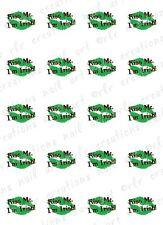 "20 Nail Decals * KISS ME I'M IRISH"" GREEN LIPS Water Slide Nail Art Decals Cute!"