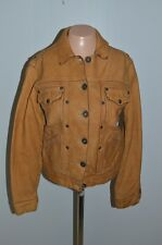 Women's Brown Leather Jacket 1921 EST JEANS Size Small SOFT Distressed Biker