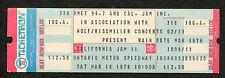 1978 California Jam II Concert Unused Ticket Heart Aerosmith Santana Foreigner