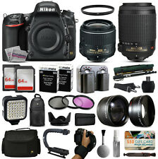 Nikon D750 Digital DSLR Camera + 18-55mm VR + 55-200mm + Professional Bundle Kit