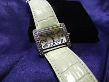 Woman's Geneva Watch with Genuine Leather Band **Nice** B29-841