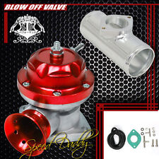 "UNIVERSAL BILLET ANODIZED TYPE-RS TURBO BLOW OFF VALVE BOV+2.5"" FLANGE PIPE RED"