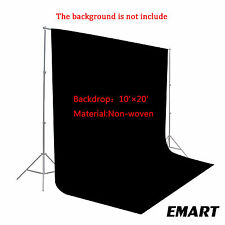 10x20Ft Black Non Woven Fabric Backdrop Photography Studio Background