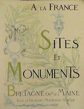 Sites et Monuments- Bretagne Orientale et Maine -1902. Polakowski. Charente.