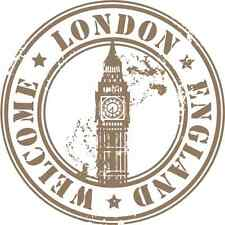 "London United Kingdom Travel Car Bumper Sticker Decal 5"" x 5"""