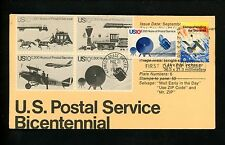 Ranto Cachet US FDC #1919 on 1572-1575 combo Space satelite postal service 1981