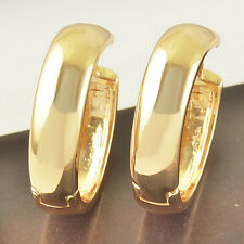 14K Yellow Gold Plated Womens Mens Childrens Jewelry Cute Round Hoop Earrings