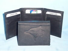 TORONTO BLUE JAYS    Leather TriFold Wallet    NEW    black 3  m1