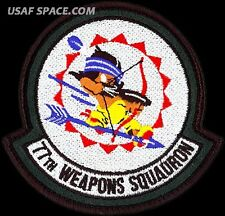 USAF 77th WEAPONS SQUADRON -LEATHER- Dyess AFB, TX -ORIGINAL AIR FORCE VEL PATCH