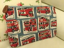 CATH KIDSTON PRINTED LARGE ZIP PURSE LONDON BUSES COSMETIC CASH TRAVEL POUCH BAG
